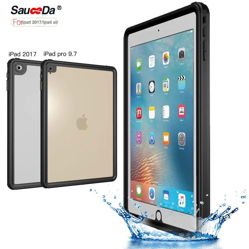 все цены на waterproof case For for ipad 9.7 inch 2017 original life water shock proof ip68 silicone Cover for iPad pro 9.7