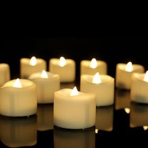 Image 5 - パックの 3 ウォームホワイトライトリモート candele 、黄色ちらつき velas perfumadas 、フレームレスちらつきキャンドル家の装飾