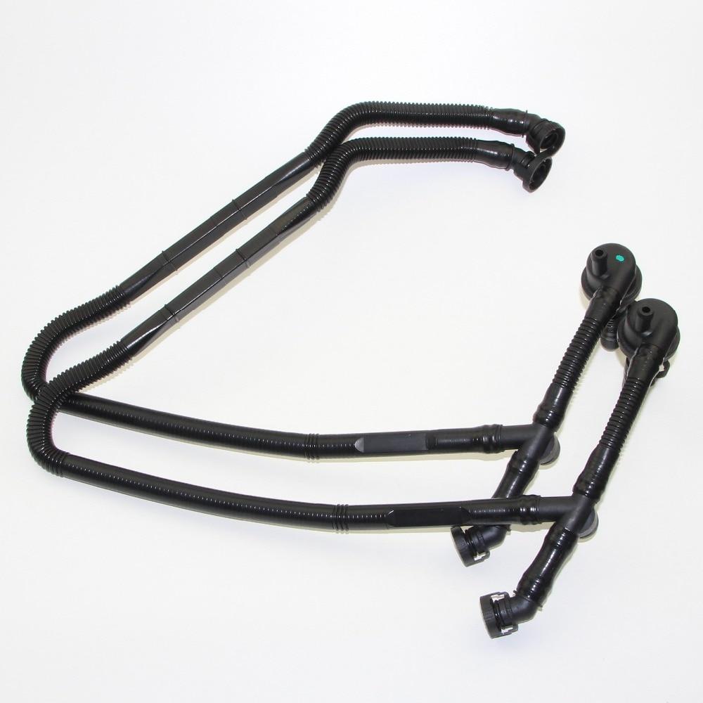 2pcs Crankcase Breather Vent Vacuum Hose For Passat A4 A6 A8 2.8L V6 DOHC 30V 078 103 224 R / 078 103 224 P