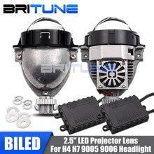 """2.5 """"Bi-Proiettore LED Lenti H1 9005 9006 H4 H7 Lampade A LED Diodo Lampadine Per Auto Auto Del Faro messa a punto di Stile FAI DA TE W/WO Fari alogeni di profondità"""