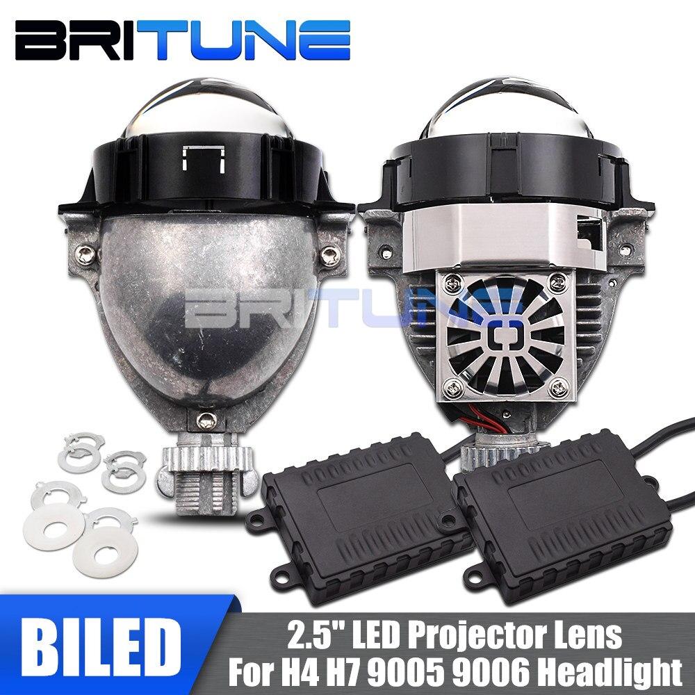 Headlight Lenses Bi-LED Lens 2.5 LED Projector Angel Eyes Diode Lamps For H7 H4 H1 9005 9006 Car Lights Accessories Retrofit DIY