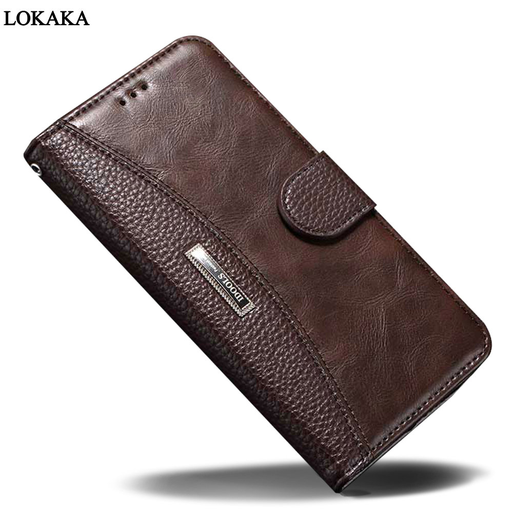 LOKAKA For Sony Xperia XZ1 Case Luxury PU Leather Cover For Sony G8341 Flip Wallet Mobile Phone Parts Bags Cases For Sony G8342