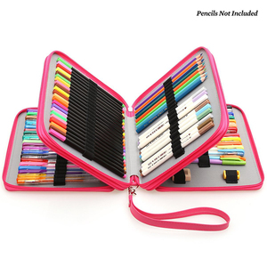 Image 5 - Dainayw 127 Holders Large Capacity School Pencil Case PU leather Portable Colored Pencil Holder Pen Bag For Artist Students