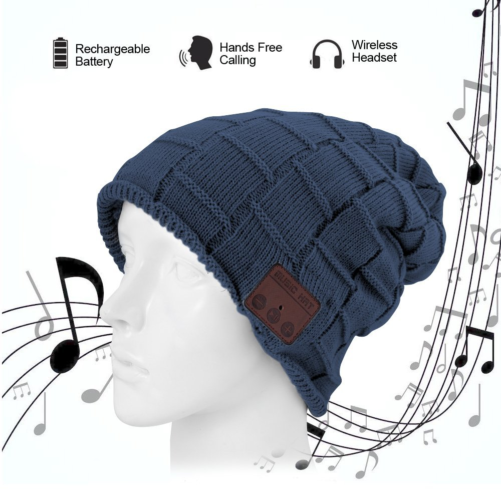 Bluetooth Beanie Music Warm Hat Cap with Wireless Headphone Headset Stereo Speaker Mic Hands-free,Best Birthday Christmas Gift sport bluetooth music hat cap handsfree headset headphone built in speaker mic