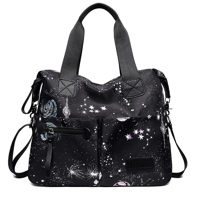 2019 Luxury Handbags Leather Women Handbags Desiguers bag With Starry Sky Big Capacity For Ipad &phone Waterproof Bag Women