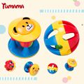 TUMAMA 2pcs Baby Newborn Little Loud Jingle Rattle Rolling Ball Ring Bell Grasp Toy