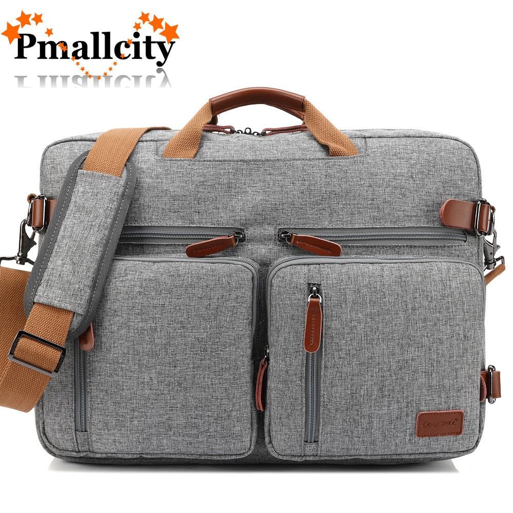 Multi use Design Laptop Bag For Macbook Air Pro Case 15.6, 17,17.3 Laptop Backpack/Messenger Backpack Men Business Bag-in Laptop Bags & Cases from Computer & Office    1