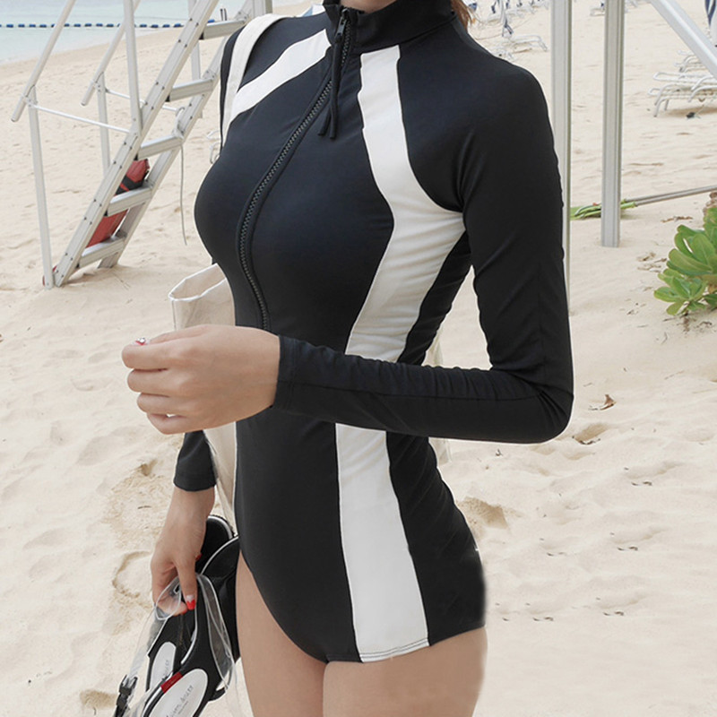 One Piece Swimsuit 2017 Sexy Swimwear Women Summer Beach Wear Mesh Zipper Beach Bathing Suits Swimming Bodysuit Patchwork XL 2017 new one piece swimsuit women vintage bathing suits halter top plus size swimwear sexy monokini summer beach wear swimming