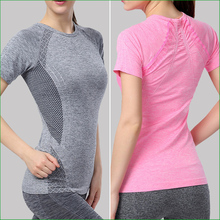WST05 Fitness Gym Body Shirt Compression Tights women s Sport Short Sleeve T Shirts Women Running