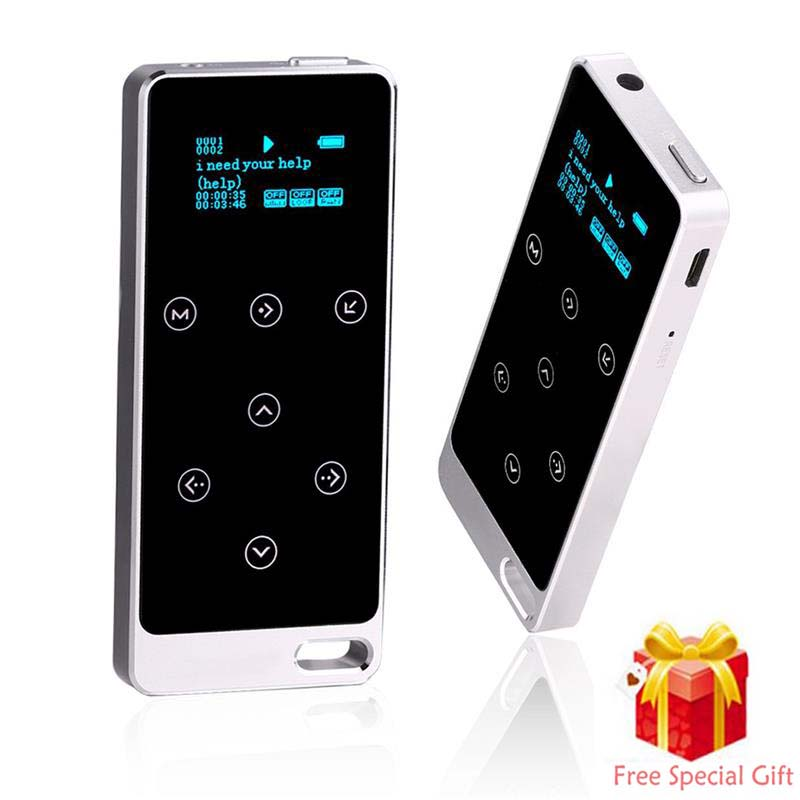 2017 All Metal 8GB HIFI MP3 Player with Screen Touch button play 100hour high quality Lossless sound quality sport music player