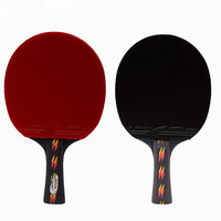 Professional Table Tennis Racket Double sided Reverse Rubber Ping Pong Bats Straight Horizontal Grip Full Set Racquet