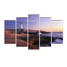 Modern Canvas Prints Artwork Lighthouse 5 Panels Seascape Picturesto Photo Paintings Canvas Wall Art Decor Free Shipping Cairns