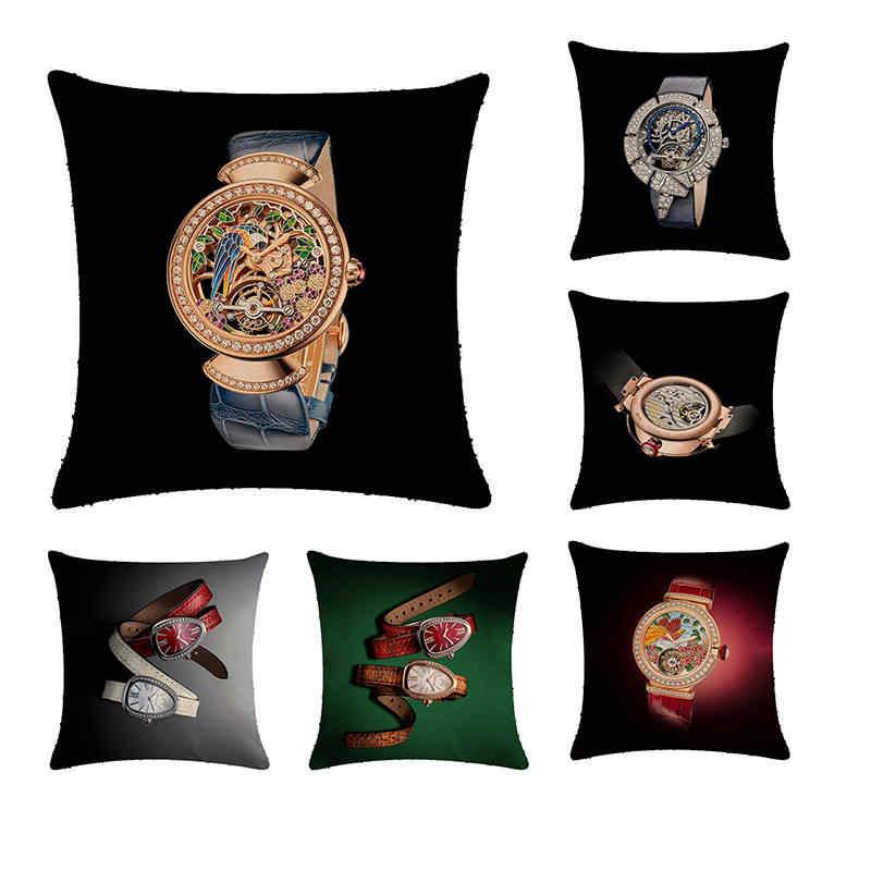 Cushion Cover Wrist Watch Pillow Case Cotton Linen Pillowcase Cushion Cover 45 45 Sofa Home Decorative Throw Pillow Coverzy11 Cushion Cover Aliexpress