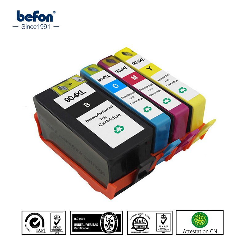 befon Compatible 904XL Cartridge Replacement for HP904 HP 904 XL Ink Cartridge OfficeJet Pro 6960 6970 All in One Printer for