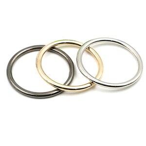 Image 4 - 10 stks/partij 20mm/25mm/30mm/35mm Zilver Zwart Goud Cirkel O Ring Verbinding legering Metalen Schoenen Tassen Riem Gespen DIY Accessorie