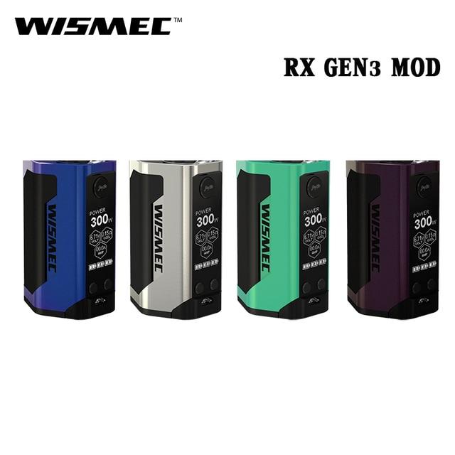 Новые электронные сигареты wismec reuleaux RX GEN3 RXGEN3 поле mod 300 Вт VAPE 1.3 дюймов Экран испаритель подходит гном Tank РБА RDA rdta