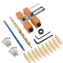 Adjustable Aluminium Alloy Oblique Hole Jig Kit Houtbewerking Tool for Wood Working Punch Locator Woodworking Tools