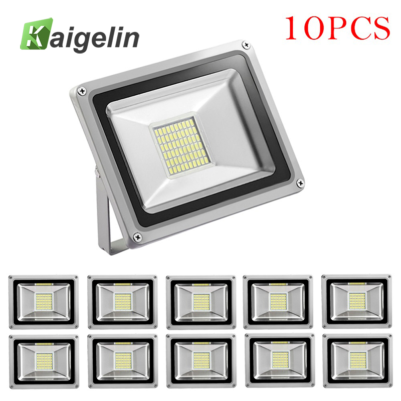 10Pcs 30W LED Flood Light 220-240V 3300LM Reflector Floodlight IP65 Waterproof Led Lamp Street Spotlight Outdoor Garden Lighting led flood light outdoor spotlight floodlight 10w 20w 30w 50w wall washer lamp reflector ip65 waterproof garden 220v rgb lighting