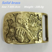 Retail 2016 New Arrival High Quality Solid Brass Men S Belt Buckle Fit 4cm Wide Belt