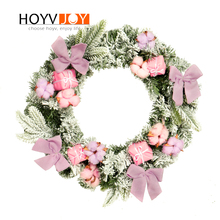 Christmas wreath decorations for home garland Handcrafted New Year Decoration For Home Party Gift