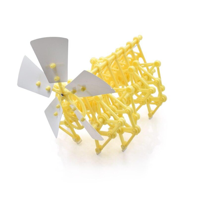 Educational Kits Wind Powered DIY Walker Robot Kit Mini Beach Creature Assembly Model Kit without original box