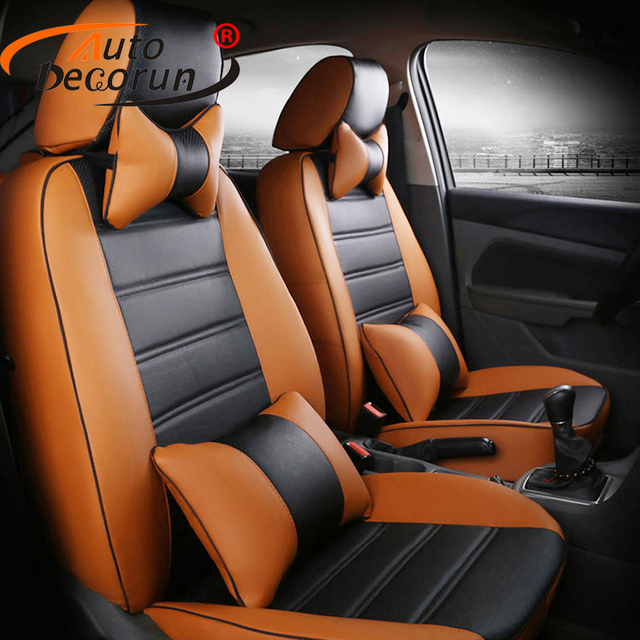 AutoDecorun PU Leather Covers Seat For Mercedes Benz Smart Fortwo Car Cover Sets Forfour