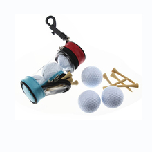 OEM Print Logo Small  Golf Bag Mini Ball Holder Pretty golf Gift present with three balls and 5 tees
