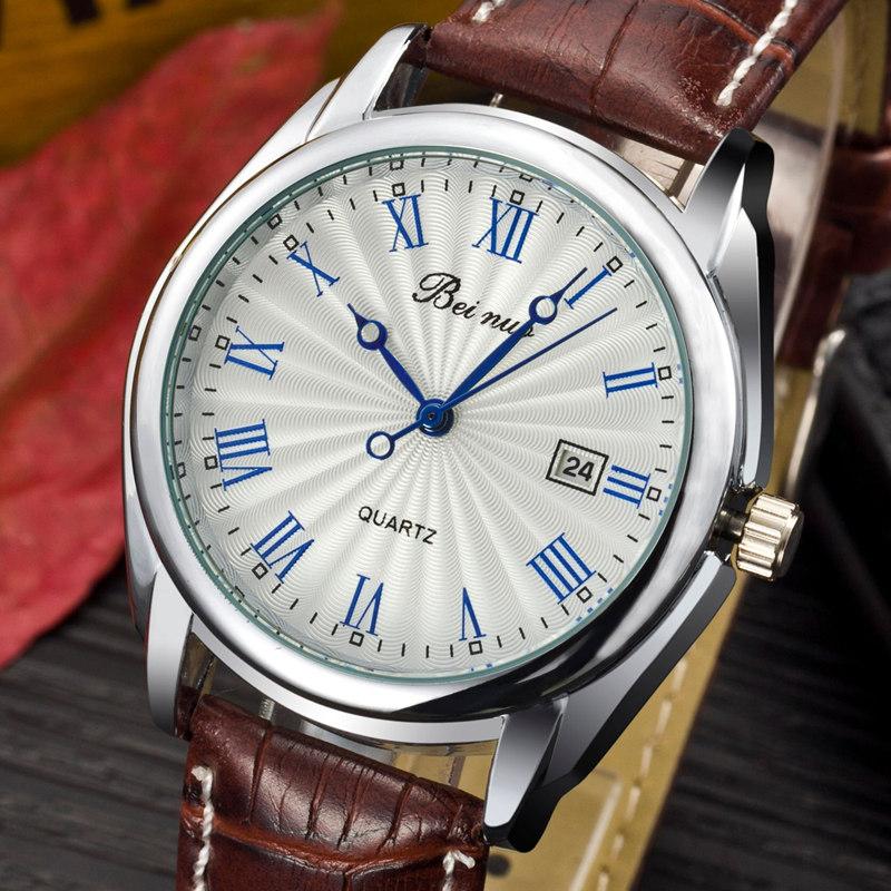 Prix pour Marque Beinuo Élégant Hommes de Montres Analogique Simple Conception Quartz Montre De Mode Horloge Hommes Montres relogio masculino
