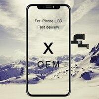 원래 OEM 품질 블랙 아이폰 X LCD 2436x1125 터치 스크린 휴대 전화 교체