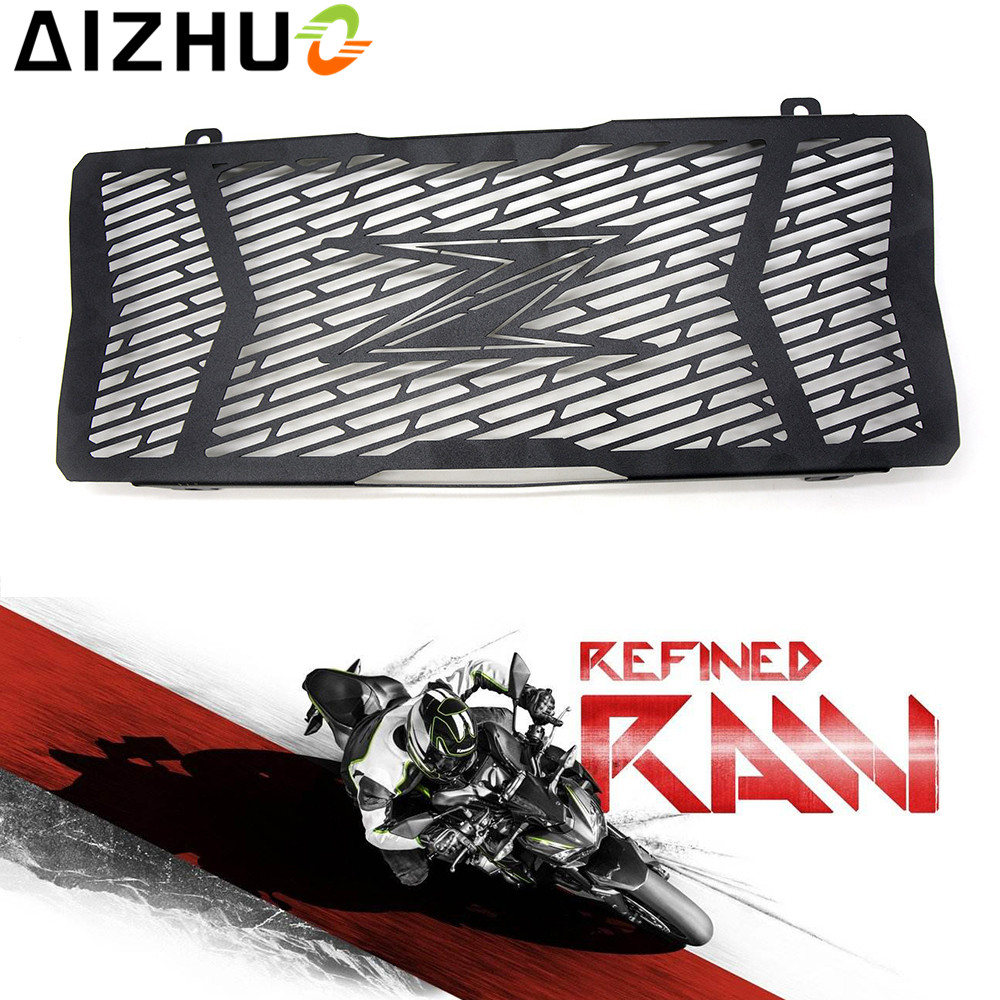 For kawasaki Z650 2017 Radiator Grille Guard Cover motorcycle accessories motor stainless steel With Z logo Radiator protector black motorcycle accessories radiator guard protector grille grill cover for kawasaki z650 z 650