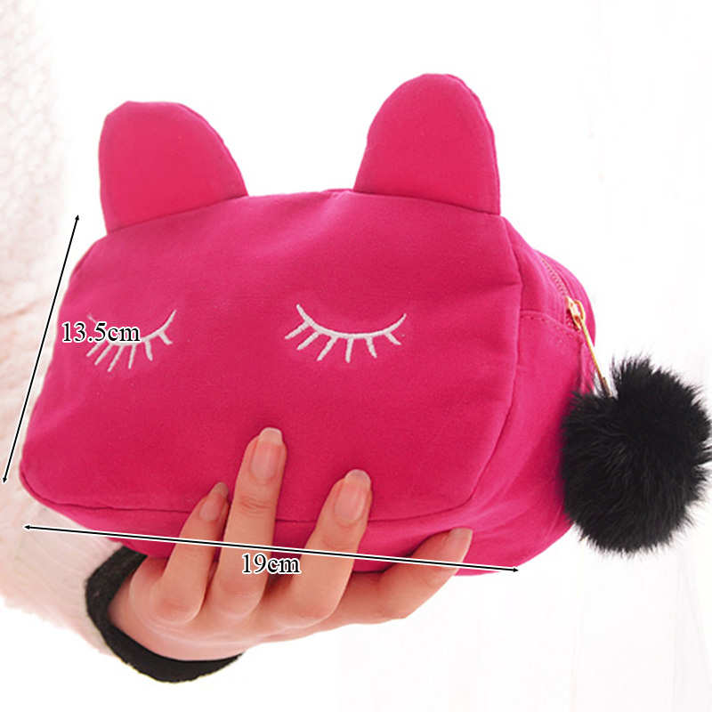 Large Capacity Plush Pencil Bag Office School Supplies Kawaii Stationery Cartoon Pencil Case Cute Cat For Girls Kids Children fluffy cute pencil case
