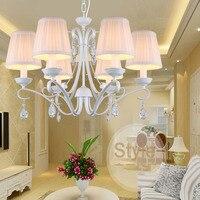 European Children S Bedroom Princess Room Fashion Lighting Crystal Lamp 110v 220v Indoor Lighting White Crystal