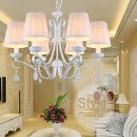 European Children's Bedroom Princess Room Fashion Lighting Crystal Lamp 110v 220v Indoor Lighting White Crystal Chandelier