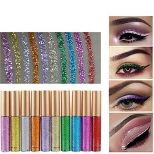10 Colors Waterproof Flash Shiny Eyeshadow Glitter Liquid Eyeliner Pencil Female Long Lasting Quick Dry Shimmer Eye Liner Pen