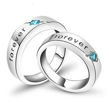 2016 new arrival forever love romantic lovers`couple ring/925 sterling silver finger rings jewelry wholesale drop shipping