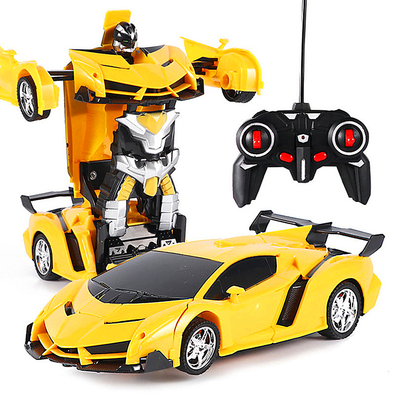Técnica transformação carro rc carro de controle remoto carro de controle remoto radiocontrolado esporte carro deriva modelo transformar brinquedo 1:18 uma-chave