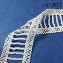 цена на GAFABRIC Wholesale 200yards Cotton Sewing Lace Embroidered Lace Fabric 4cm Width White Embroidered Lace Cotton Fabric Ladder