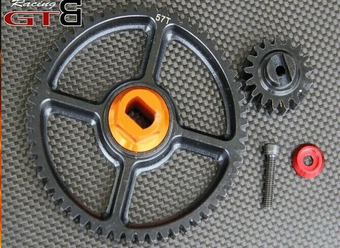 Baja Metal 17T and 57T steel gear for 1/5 HPI Baja 5b ss Rovan Kingmotor car baja 95175 57t metal gear assembly 5b 5t 5sc hpi km rovan baja 5b 5t sc ss 30 5cc truck buggy steel spur gear 57t 17t set