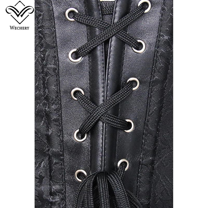 a68f8c59d7c Wechery Women Steampunk Corsets Sexy Retro Buckle Corselet Lace Up  Underbust Bustiers Korset Gothic Clothing Gorset Tops Party -in Bustiers    Corsets from ...