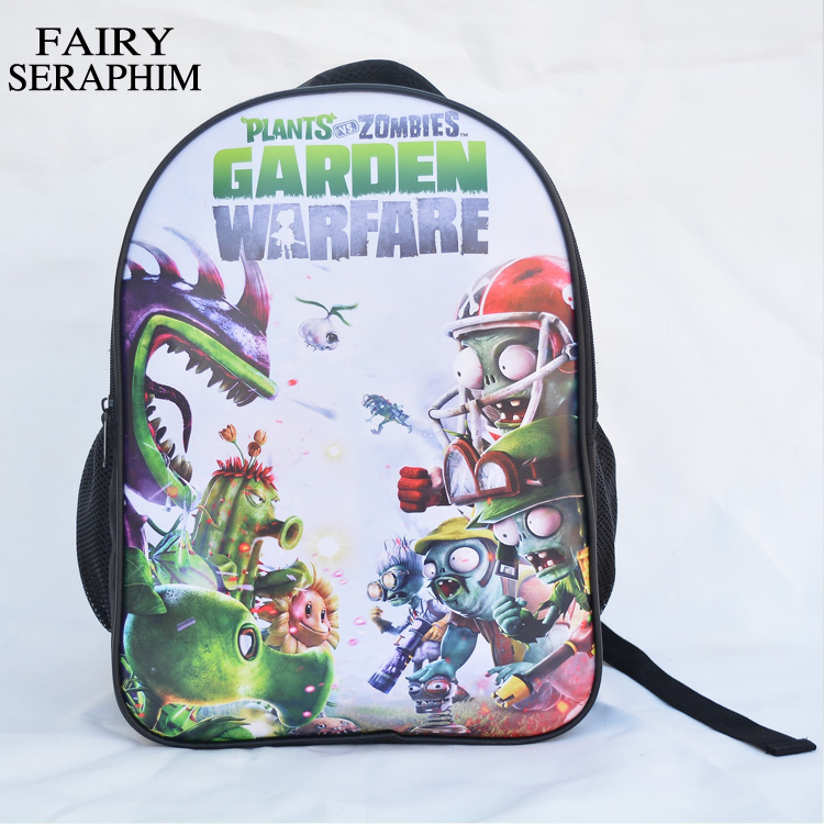 FAIRY SERAPHIM New Plants vs Zombies Backpack Children Cartoon School bag Pressure Reduced Design Backpack