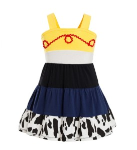 Toy Story and Beyond Jessie Costume Toy Story 3 Child Deluxe Costume Cowgirl Toy Story Jessie Tunic Tank dress toddler dresses(China)