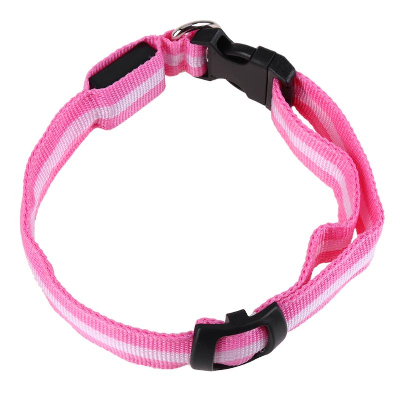 7 Color Pet Necklace Safety Pet Collar For Lighted Up LED Night Flashing Dog Outdoor Playing Pet Necklace Nylon Collar Leash