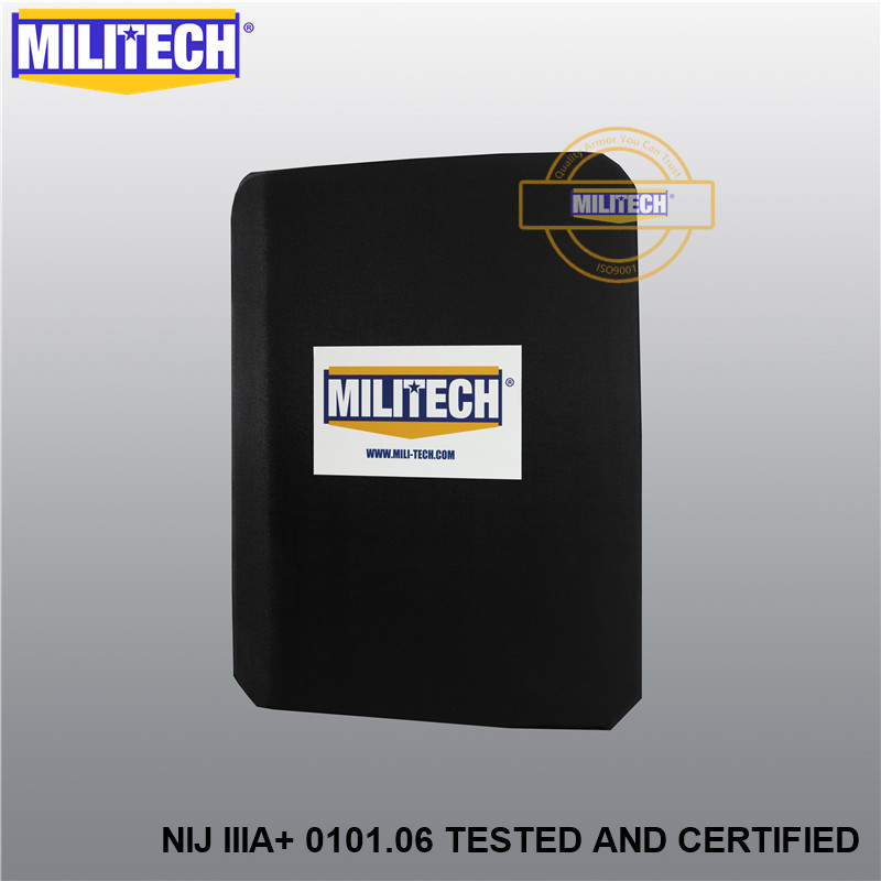 MILITECH NIJ IIIA+ Lvl 3A Rated Steel Bulletproof Insert NIJ Level 3A Bulletproof Backpack Panel Student Bag Bullet Proof Panel