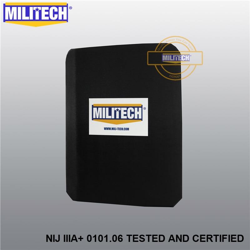 MILITECH NIJ IIIA+ Lvl 3A Rated Steel Bulletproof Insert NIJ Level 3A Bulletproof Backpack Panel Student Bag Bullet Proof Panel