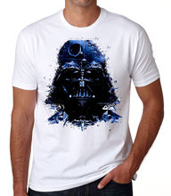 Darth Vader Space Face T-shirt - STAR WARS Themed Death Star White T-shirtStreetwear Funny Print Clothing Hip-Tope Mans T-Shirt