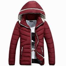 2017 Новая Мода Повседневная Зимняя Куртка Мужчины С Капюшоном Твердые Теплые Мужские Зимние Куртки Пальто 3 Цвета (азиатский Размер)