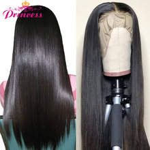 Beautiful Princess Lace Front Human Hair Wigs For Women Remy Brazilian Straight 360 lace frontal wig pre plucked with baby hair(China)