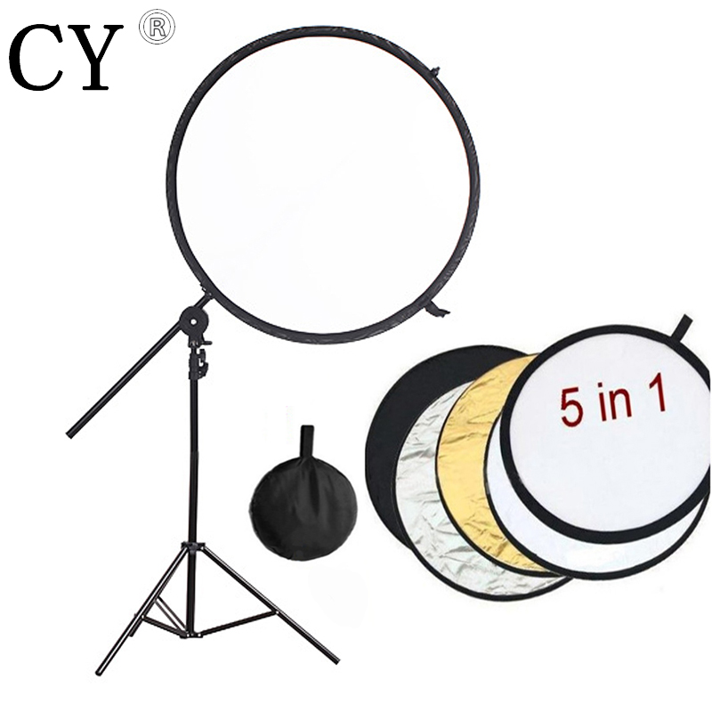 Studio reflector support kits 200CM Light Stand 84cm 5 in1 Collapsible Reflector Disc+Backdrop Arm Grip Holder PSBA3B