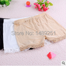 Girls Leggings anti emptied ice silk cotton lace three pants safety inside factory wholesale leggings