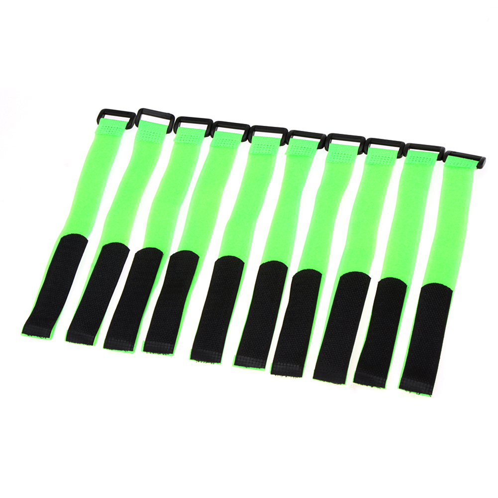 10pcs battery strap strong rc battery antiskid cable tie down straps 26 2cm green 10Pcs Battery Strap  Strong RC Battery Antiskid Cable Tie Down Straps 26*2cm Green
